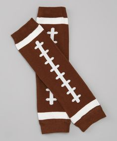 Take a look at this Brown Football Leg Warmers by Spoiled Totz on #zulily today!