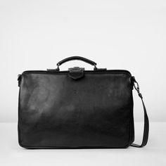 b37dc5c5e04 Zakelijke laptop/ dokterstas in bruin, zwart en cognackleurig leer | Fred  de la Bretoniere