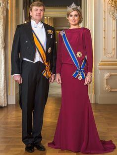 Statieportret Koning Willem-Alexander en Koningin Máxima