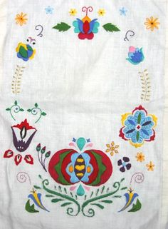 My first Slovak embroidery from 2002.  I was 19 years old when I made it.  The finished version has a Slovak proverb in the middle and hangs in my parents' dining room in Atlanta.