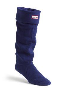Womens Fleece Welly Socks | Rain Boot Socks Navy