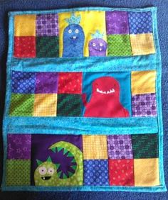 Monster quilt for a swap on Craftster