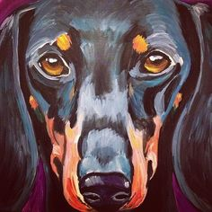 #dachshund #dogpainting #gift custom pet portrait paintings from photos: $175