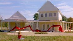 """The house from the movie """"Housesitter""""  with Steve Martin.  I love that the master bedroom is separate from the rest of the house."""