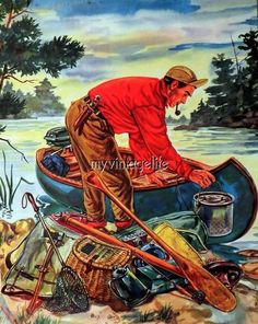This great Sportsman Hunting Fishing Camping would be wonderful for your sportsman. The paper backing is only to keep the fabric stiff while printing. Hunting Home Decor, Hunting Art, Hunting Drawings, Old Town Canoe, Outdoor Art, Outdoor Logos, Camping Wallpaper, Camping Images, Outdoor Magazine