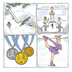 Texte d'écoute: les Jeux olympiques d'hiver - Lingolia Français … Snowboard, French Language Learning, Cycle 3, Teaching French, France, Summer Olympics, Olympic Games, Tokyo, Education
