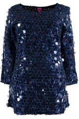 #SavetheQueen - trui met pailletten #navyblue #cobaltBlue #blueShades #fashion #colortrends #trends
