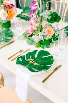 Serve up the cutest little table settings at your delicious brunch wedding.