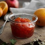 Granatæble- og appelsinmarmelade - Opskrifter Punch Bowls, Pickles, Recipies, Food And Drink, Healthy Eating, Treats, Ethnic Recipes, Marmalade, Syrup