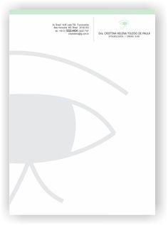 desenvolvimento / logomarca e papelaria CONSULTÓRIO DE OFTALMOLOGIA  por kaitaney