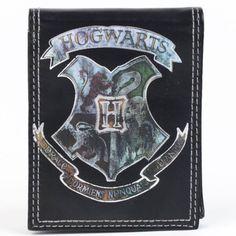 Harry Potter Hogwarts Crest Black Wallet