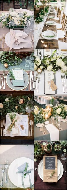 Greenery Wedding Place Setting Ideas / http://www.deerpearlflowers.com/greenery-wedding-place-setting-ideas/ #weddingideas