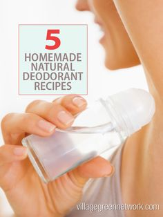 5 Homemade Natural Deodorant Recipes #DIY #homemade