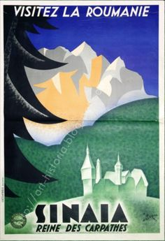 Reclame din România interbelică - VICE Vintage Ski Posters, Art Deco Posters, Old Pictures, Old Photos, Peles Castle, Railway Posters, Retro Illustration, Illustrations, Vintage Graphic Design