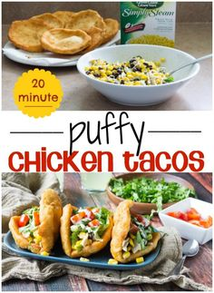 20 Minute Puffy Chicken Tacos! Super easy and delicious!
