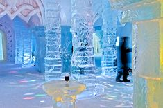 The ice bar at the Hotel de Glace, Quebec Old Quebec, Quebec City, Snow And Ice, Fire And Ice, Alpine Adventure, Vacation Wishes, Ice Hotel, Ice Bars, Canadian Travel