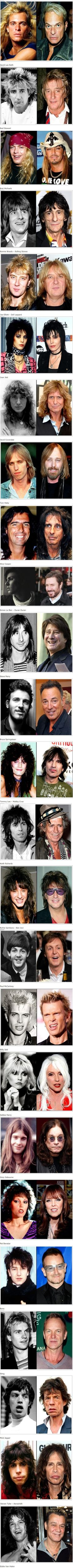 Aging Rock Stars: Then and Now | No Need to ApplyNo Need to Apply  (the girls seem to fare better than the boys)