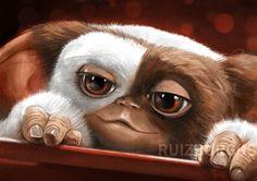 RUIZ BURGOS - MOGWAI Les Gremlins, Gremlins Gizmo, Fantasy Movies, Fantasy Art, Easy Disney Drawings, Drawing Now, Photo D Art, Baby Fairy, Weird Creatures