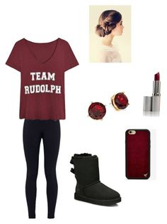 """""""Untitled #94"""" by averyvalclaunch on Polyvore featuring NIKE, Lauren Ralph Lauren, UGG Australia and Wildflower"""