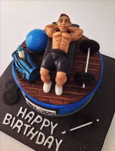 65 ideas cake ideas for men gym birthday parties Birthday cake decorating for. Birthday Cakes For Men, Heart Birthday Cake, Birthday Cake For Husband, 18th Birthday Party, Birthday Gifts For Boys, Cakes For Boys, Men Birthday, Body Builder Cake, Fitness Cake