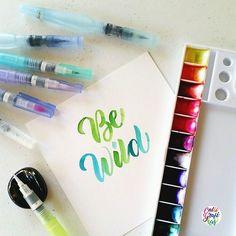 Be wild. #calligrafikas #brushlettering #watercolor   Paper: Canson 200gsm Paint: Dr. Ph Martin's radiant concentrated watercolors Brush: Zig Kuretake waterbrush in medium