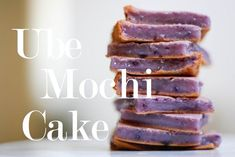 Ube Mochi cake - Purple yams, ube, whatever you may call them, are delicious. Lately, my house has been inhaling these beautiful little sweet potatoes. Pinoy Dessert, Filipino Desserts, Asian Desserts, Filipino Food, Filipino Recipes, Pinoy Food, Filipino Dishes, Asian Recipes, Hawaiian Desserts