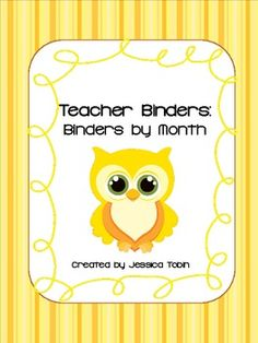 Binder and Spine Covers by month with owls