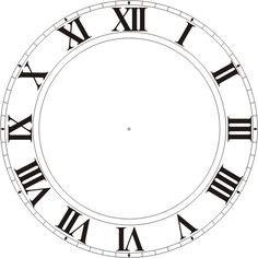 quadrante orologio numeri romani