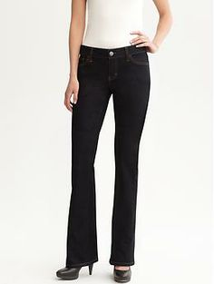 Curvy dark-wash boot-cut jean | Banana Republic $80 Long is 37 inch inseam