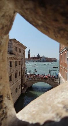 The last view of Venice prisoners would have walking across the Bridge of Sighs on their way from Court to prison. An unusual perspective.