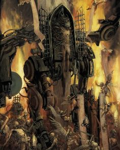 """slaaneshi-party-bus: """" Penitent Engine by *Clarenko This is like if Van Eyck or Bosch was alive to illustrate for gaming companies like hello we are being very faithful to the whole gothic thing. Warhammer Fantasy, Warhammer 40k Rpg, Warhammer 40k Miniatures, Dark Fantasy, Fantasy Art, 40k Sisters Of Battle, Arte Steampunk, Grey Knights, Dibujo"""