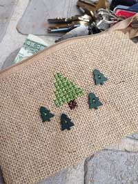 Christmas Tree Purse Pouch free cross stitch chart