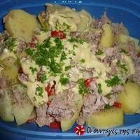 Πατατοσαλάτα με τόνο Comme Un Chef, Le Chef, Salad Recipes, Healthy Recipes, Healthy Food, Good Food, Yummy Food, Salad Bar, Potato Salad