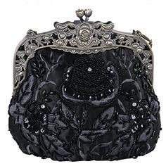 Belsen Women's Vintage Beaded Sequin Flower Evening Handbags (Black) Belsen http://www.amazon.com/dp/B00T8T3RA4/ref=cm_sw_r_pi_dp_84pQwb0DAK4B3