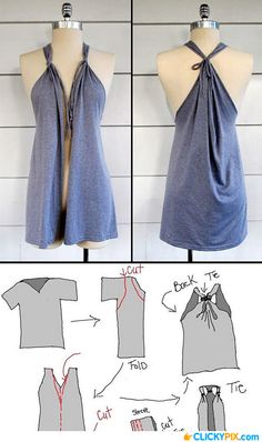 easy fashion diy..would love to do with a long sleeved top, could make bell sleeves too!
