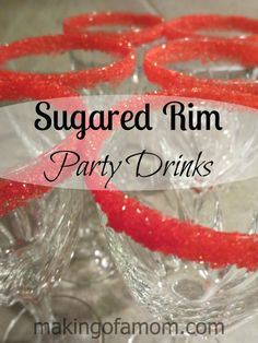 How to sugar rim your party glasses. #newyears #partyidea