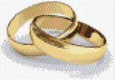 Wedding Rings 2. Free cross stitch patterns at Ann's Cross Stitch Patterns.