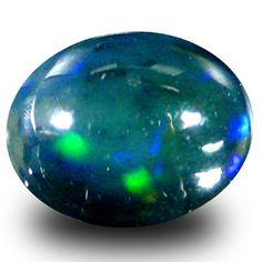 Black Opals 181110: 3.07 Ct Aaa Mind-Boggling Oval Cabochon Shape (11 X 9 Mm) Black Opal Gemstone -> BUY IT NOW ONLY: $54.99 on eBay!