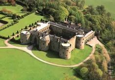 Chirk Castle, Wrexham, North Wales, UK - A Magnificent medieval fortress of the Welsh Marches. Completed in 1310, Chirk is the last Welsh castle from the reign of Edward I that's still lived in today.