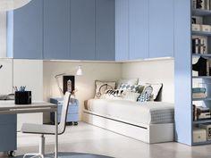 Teenage bedroom with bridge wardrobe Z324 by Zalf