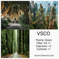VSCO Filters for Nature - VSCO Filter Hacks