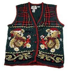 XVEST-1149 - Ugly Christmas Sweater Vest - Ladies - Medium - Green BYT http://www.amazon.com/dp/B00SZD9U2S/ref=cm_sw_r_pi_dp_xjnwwb0DPW3PM