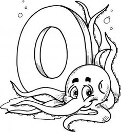 Letter O Words Coloring Page O Is For Alphabet Pinterest