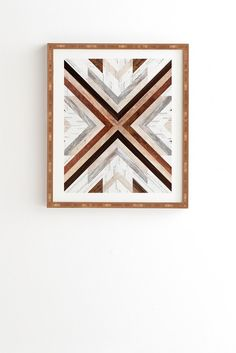 Iveta Abolina Geo Wood 1 Framed Wall Art   DENY Designs Home Accessories