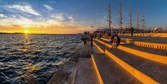 Sunset on sea organs  - Zadar, Croatia.