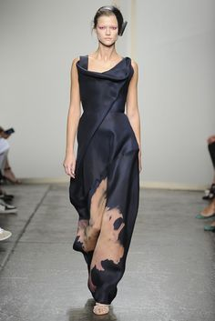 Donna Karan Spring 2013   love this style and colour and everything, the model is kind of scary though