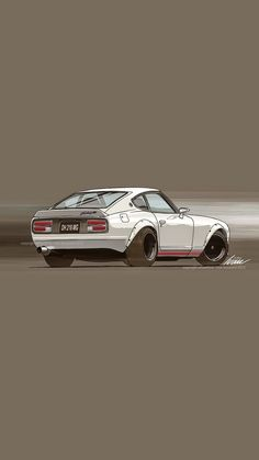 Nissan, Car Animation, Jdm Wallpaper, Japanese Sports Cars, Supercars, Datsun 240z, Automobile, Car Posters, Japan Cars