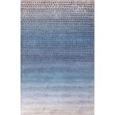 nuLOOM Handmade Ombre Blue Wool Rug (5' x 8') | Overstock.com Shopping - Great Deals on Nuloom 5x8 - 6x9 Rugs