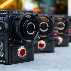 Wow - Here's a line up of 4 of the #beautiful RED Weapon 8K Photo by @keslowcamera Tag a friend  let them know this is on your wish list!! #camera #redcamera #Helium8k #cameras #reddigitalcinema #videoshoot #gear #tech