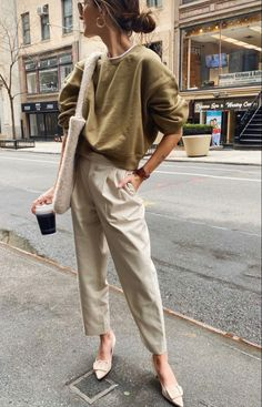 Winter Fashion Outfits, Spring Summer Fashion, Love Fashion, Autumn Fashion, Womens Fashion, Style Fashion, Basic Outfits, Mode Outfits, Pantalon Slouchy